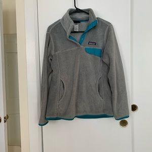 Patagonia retool snap t pullover gray fleece